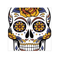Sugar Skull Small Satin Scarf (square)