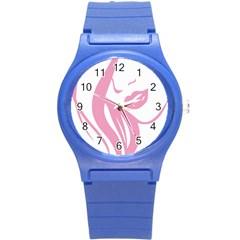 Pinky Round Plastic Sport Watch (s)