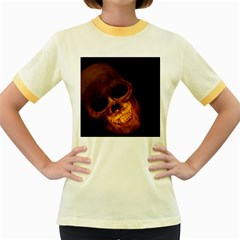 Laughing Skull Women s Fitted Ringer T Shirts