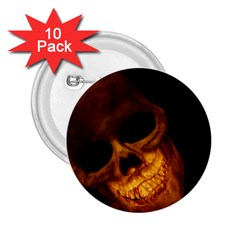Laughing Skull 2 25  Buttons (10 Pack)