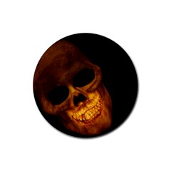 Laughing Skull Rubber Round Coaster (4 Pack)