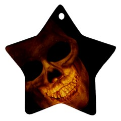 Laughing Skull Star Ornament (two Sides)