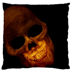 Laughing Skull Large Cushion Case (one Side)