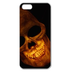 Laughing Skull Apple Seamless Iphone 5 Case (clear) by sherylchapmanphotography