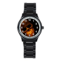Laughing Skull Stainless Steel Round Watch