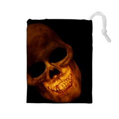 Laughing Skull Drawstring Pouches (large)