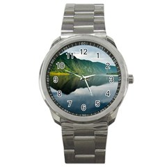Evening Landscape Sport Metal Watch