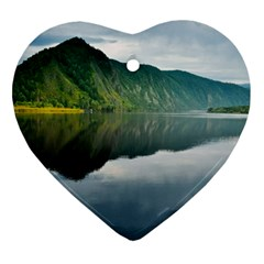 Evening Landscape Heart Ornament (two Sides)