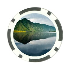 Evening Landscape Poker Chip Card Guard
