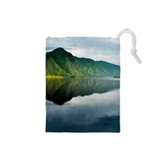 Evening Landscape Drawstring Pouches (small)