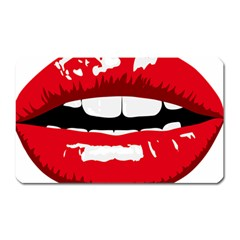 Sexy Lips Magnet (rectangular) by sherylchapmanphotography