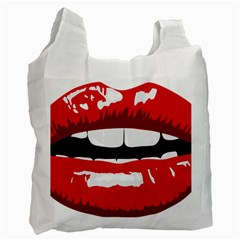 Sexy Lips Recycle Bag (two Side)