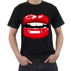 Sexy Lips Men s T Shirt (black)