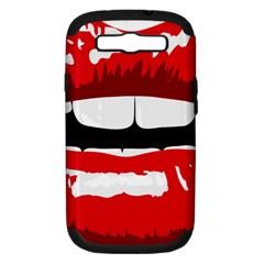 Sexy Lips Samsung Galaxy S Iii Hardshell Case (pc+silicone)