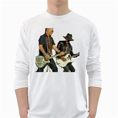 Rnr White Long Sleeve T Shirts