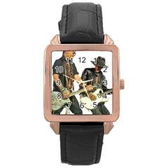Rnr Rose Gold Leather Watch