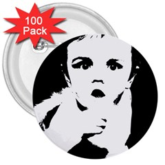 Cupid 3  Buttons (100 Pack)