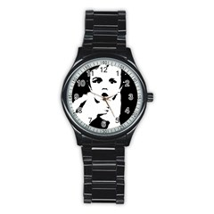 Cupid Stainless Steel Round Watch