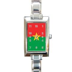 Flag Of Burkina Faso Rectangle Italian Charm Watch by abbeyz71