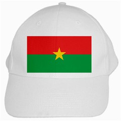 Flag Of Burkina Faso White Cap