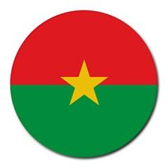 Flag Of Burkina Faso Round Mousepads