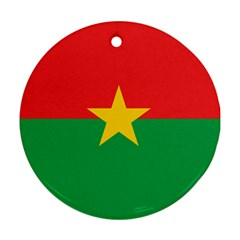 Flag Of Burkina Faso Ornament (round)