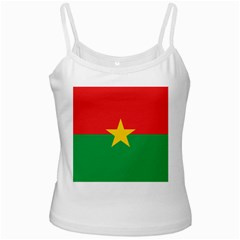 Flag Of Burkina Faso White Spaghetti Tank