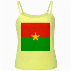 Flag Of Burkina Faso Yellow Spaghetti Tank
