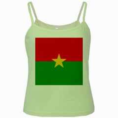 Flag Of Burkina Faso Green Spaghetti Tank
