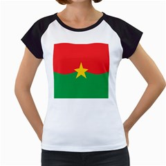 Flag Of Burkina Faso Women s Cap Sleeve T