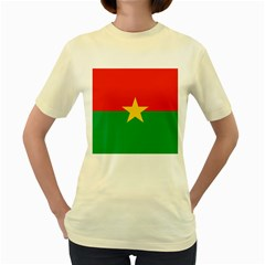Flag Of Burkina Faso Women s Yellow T Shirt