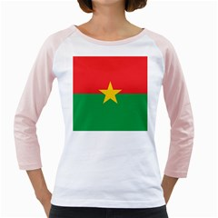 Flag Of Burkina Faso Girly Raglans