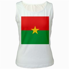Flag Of Burkina Faso Women s White Tank Top