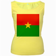 Flag Of Burkina Faso Women s Yellow Tank Top