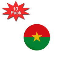 Flag Of Burkina Faso 1  Mini Buttons (10 Pack)