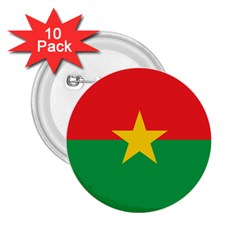 Flag Of Burkina Faso 2 25  Buttons (10 Pack)