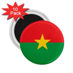 Flag Of Burkina Faso 2 25  Magnets (10 Pack)