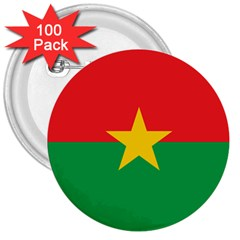 Flag Of Burkina Faso 3  Buttons (100 Pack)