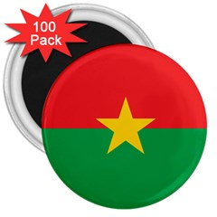 Flag Of Burkina Faso 3  Magnets (100 Pack) by abbeyz71