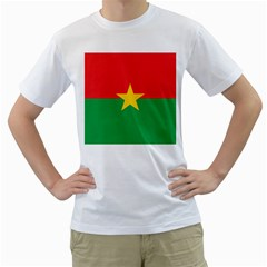Flag Of Burkina Faso Men s T Shirt (white) (two Sided)