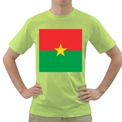 Flag Of Burkina Faso Green T Shirt