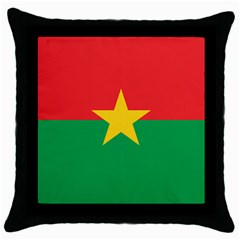 Flag Of Burkina Faso Throw Pillow Case (black)