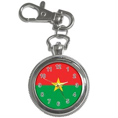 Flag Of Burkina Faso Key Chain Watches by abbeyz71
