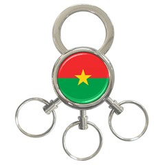Flag Of Burkina Faso 3 Ring Key Chains