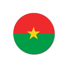 Flag Of Burkina Faso Magnet 3  (round)