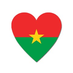 Flag Of Burkina Faso Heart Magnet