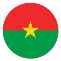 Flag Of Burkina Faso Magnet 5  (round)