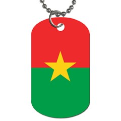 Flag Of Burkina Faso Dog Tag (one Side)