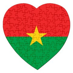 Flag Of Burkina Faso Jigsaw Puzzle (heart)