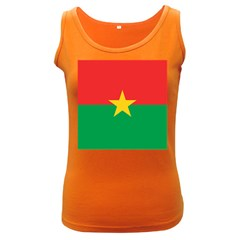 Flag Of Burkina Faso Women s Dark Tank Top